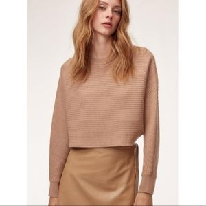 WILFRED Lolan crop merino wool sweater | Aritzia